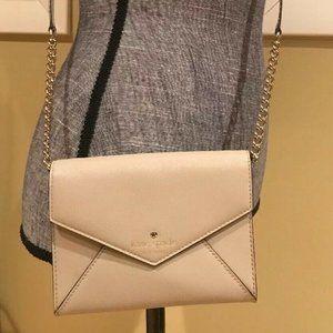 Kate Spade Leather Monday Gray Tech Crossbody Bag